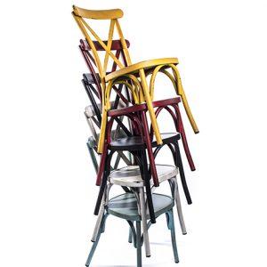 Chaise CROSS pour restaurant chaise CROSS pour terrasse chaise CROSS pour brasserie Chaises CROSS pour hotel