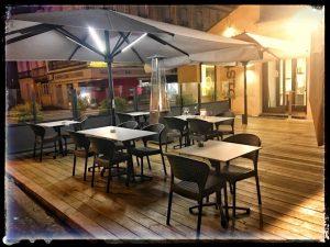 EUROTABLE mobilier de terrasse mobilier intérieur parasol banquette pour brasserie